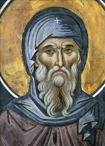 Saint Anthony the Great is considered the founder of Christian monasticism. He was born ca. 251 in Herakleopolis Magna, Egypt and died in 356. Public Domain image via IconAndLight