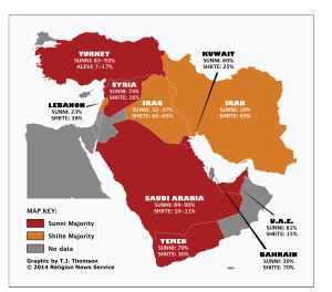 Muslim Distribution in the Middle East2