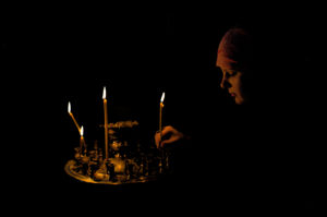 Lighting A Candle In Orthodox Church Saint Volodymyrs Cathedral Kiev Ukraine By
