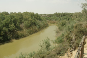 The Jordan River span 156 miles and eventually flows into the Dead Sea. Creative commons image by Vyacheslav Argenberg